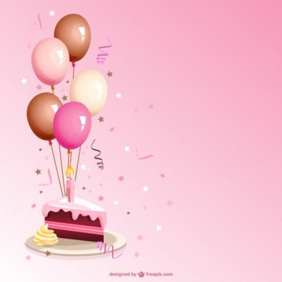 Открытка с днем рождения в векторе.