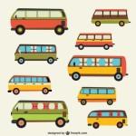 Рисунки автобусов в векторе.