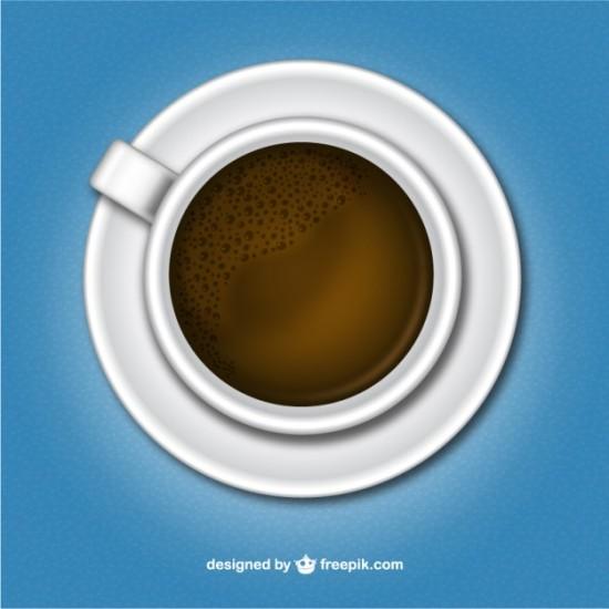 Белая чашка кофе в векторе.