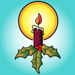 Рисунок рождественской свечи
