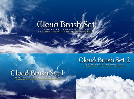 Кисть для фотошоп облако, белые облака, туман, дым