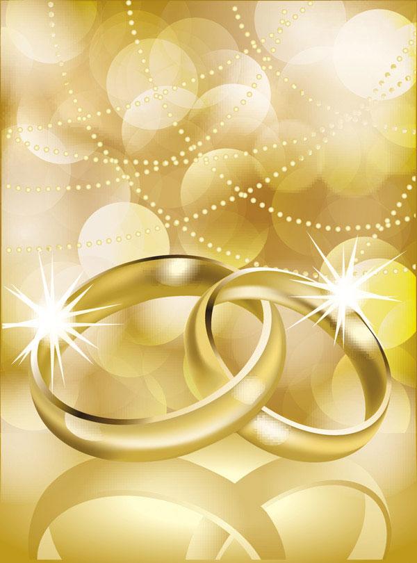Векторное изображение обручальных колец. Картинка свадебных колец, свадьбы. Формат Eps