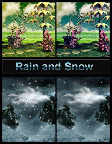 Кисть для фотошоп высокого разрешения HD снег, дождь