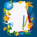 Картинка и векторное изображение 1 сентября, обучение, глобус, тетрадь. Формат eps.