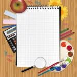 Векторное изображение блокнот и картинка блокнот, обучение, 1 сентября