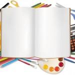 Векторное изображение обучение, тетрадь и картинка канцтовары, тетрадь, 1 сентября. Высокого разреше...