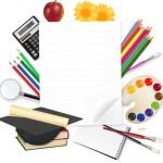 Картинка обучение, канцелярские принадлежности и изображение канцелярских принадлежностей