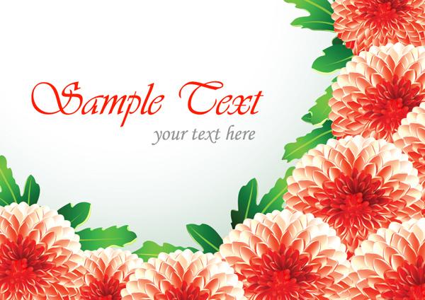 Красивая картинка цветов и векторное изображение цветов. Фон, открытка.