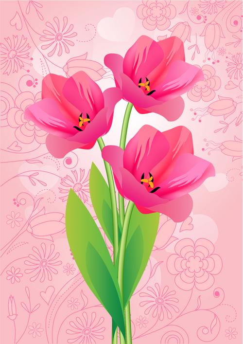 Картинка тюльпана и векторное изображение тюльпана