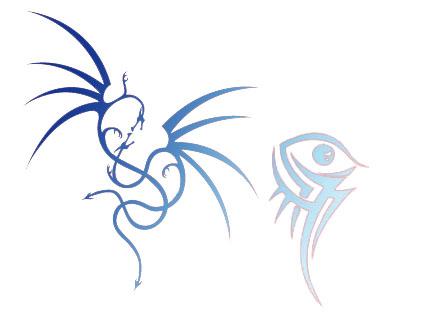Кисть дракон, тотем, татуировка. Рисунки.