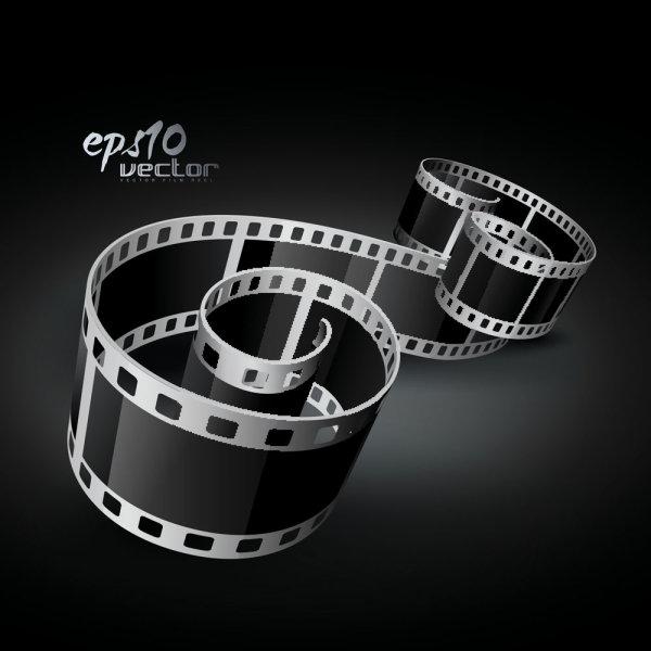 Векторное изображение кинопленки, кино, фильма