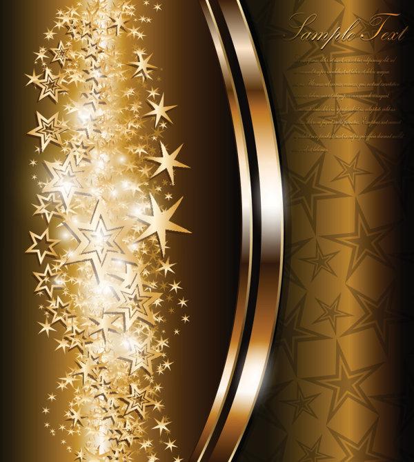 Фон вектор. Звезды, металл. Картинка звезд, золота.