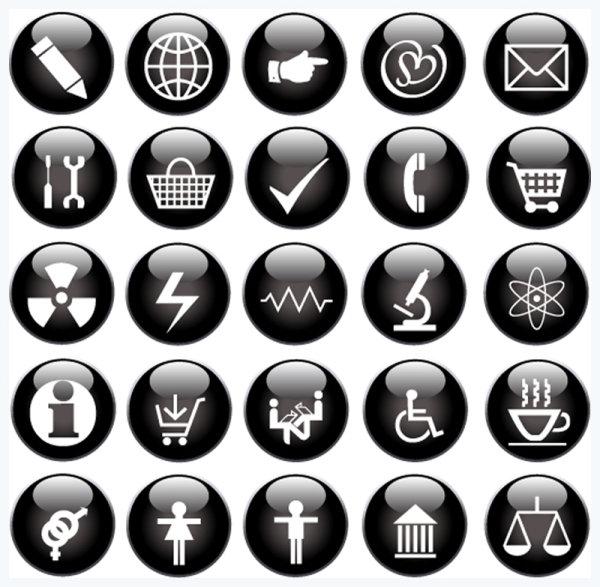 EPS формат, JPG формат, web, вектор, весы, иконки, карандаш, кнопка, кнопки, корзина, микроскоп, телефон, чашка