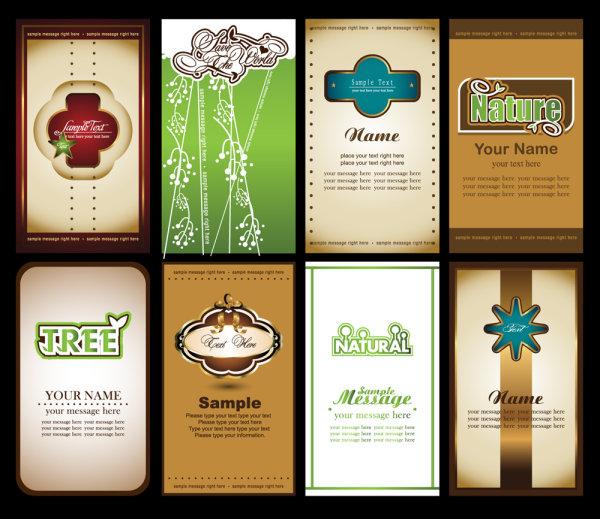 Визитки, наклейки, закладки, открытки в векторе