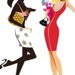 Вектор Мода, женщины, покупки