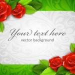 Векторная открытка с цветами, 8 марта, день рожденья, рамка