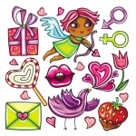 Векторный клипарт любовь, амур, рисунок