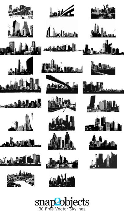 город, здания, небоскребы, мегаполис,силуэт, черно- белый рисунок, вектор, eps, скачать