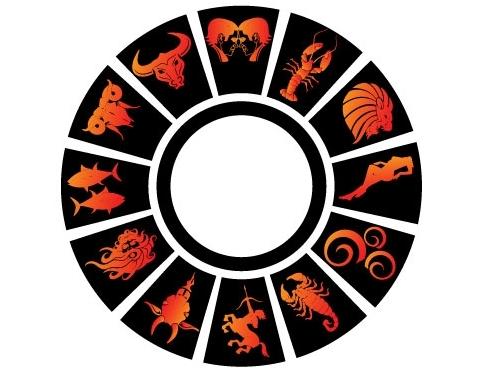 Гороскоп, знаки зодиака в векторе.
