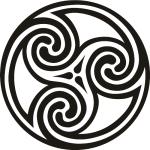 Кельтские узоры. Орнамент круг. Тату. Трафарет.