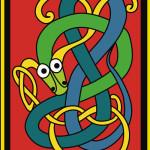 Кельтские узоры. Змея в векторе.