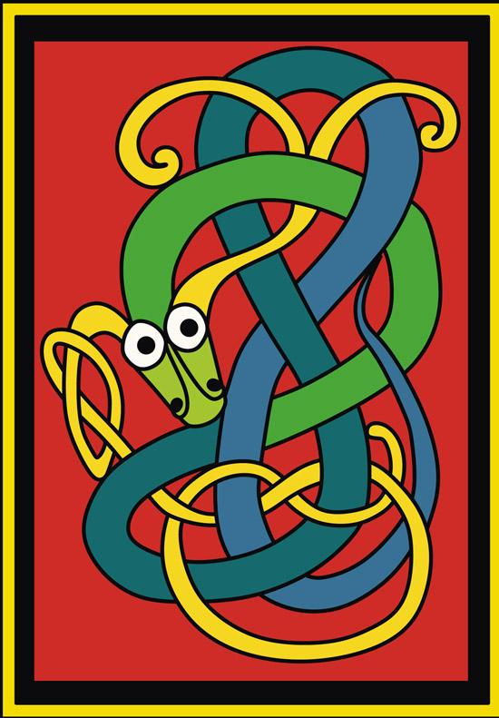 кельтские узоры, тотем, тату, рисунок змеи, змея,  в векторе,  EPS, GIF, SVG, DWG