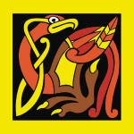 Кельтские узоры. Мифическая птица в векторе.