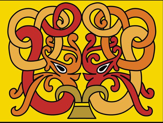 Кельтские узоры. Узор переплетение в векторе .