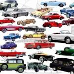 PSD исходник классических ретро машин, автомобилей