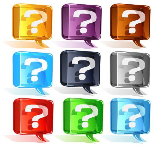 вопросительный знак, вопросительные знаки, знак препинания, в векторе,  AI, CDR, EPS