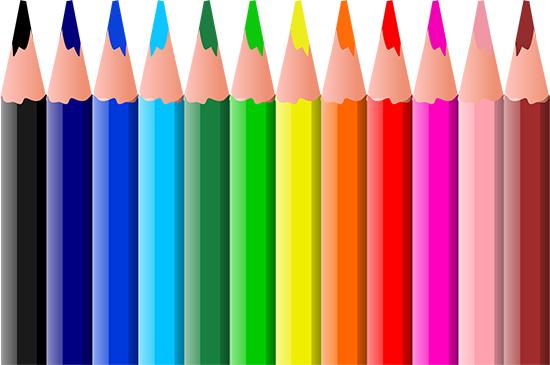 Цветные карандаши в векторе.