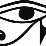 Глаз Гора. Древний египетский символ в векторе.
