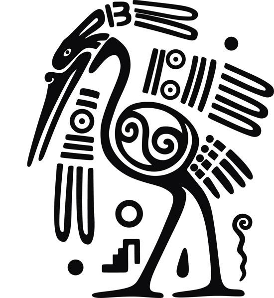Этнические узоры. Рисунки Майя в векторе.