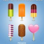 Иконки ico и png. Мороженое, эскимо