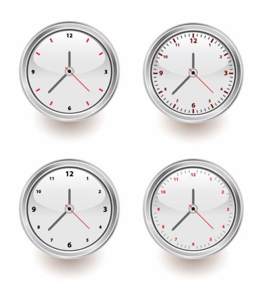 Векторные часы со стрелками