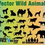 Векторные животные. Клипарт, силуэты, трафарет