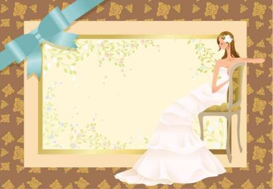 невеста, свадебная рамка, свадьба, свадебное приглашение, в векторе, EPS