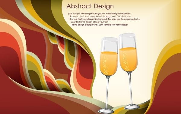 праздничный фон, бокалы шампанского, праздник,  в векторе, EPS, AI
