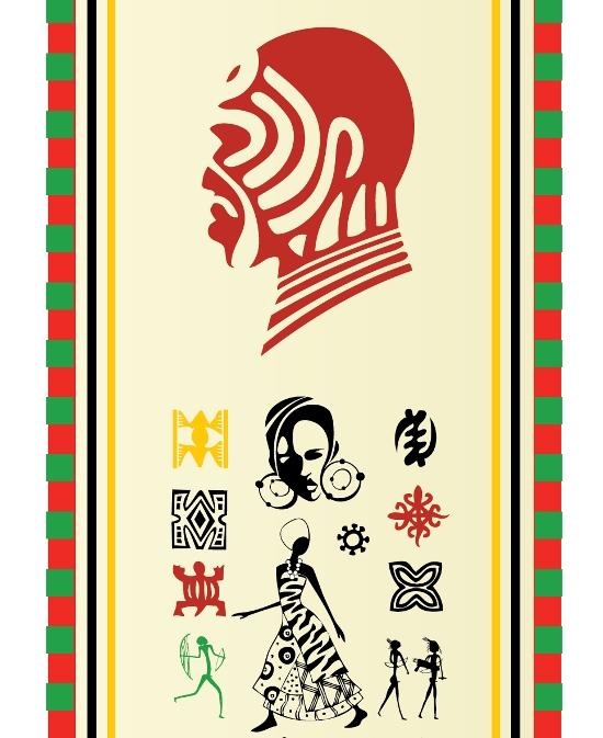 AI формат, EPS формат, африканцы, бусы, вектор, женщины, знаки, клипарт, контур, лицо, орнамент, платье, рисунок. голова, силуэты, тотемы, формат SVG