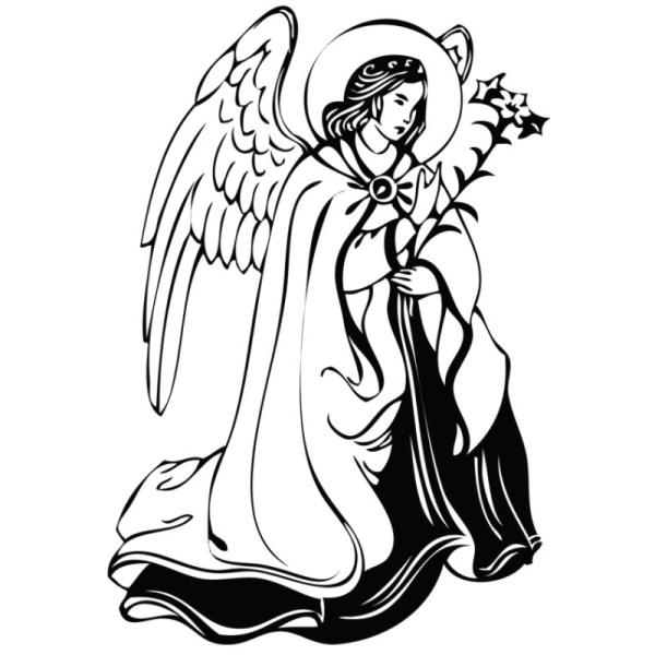 Ангел. Рисунок. Контур.