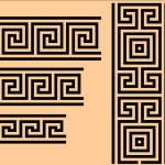 Древнегреческий орнамент в векторе.