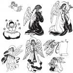 Кисть для фотошоп ангелы, рисунки