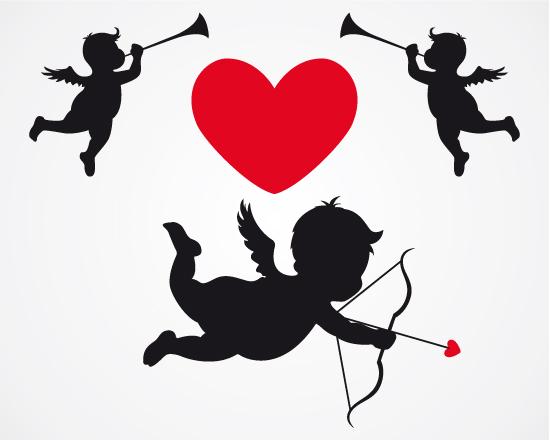 графика, любовь, амур, черно-белый рисунок, купидон, лук, стрелы, контур,JPG формат,EPS формат,png формат, валентинка