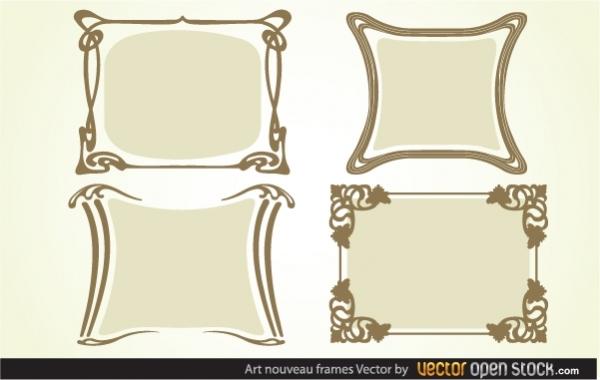 Простые винтажные рамки в векторе