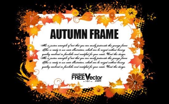 цветы, листья, осень, 1 сентября, векторная рамка, AI, EPS