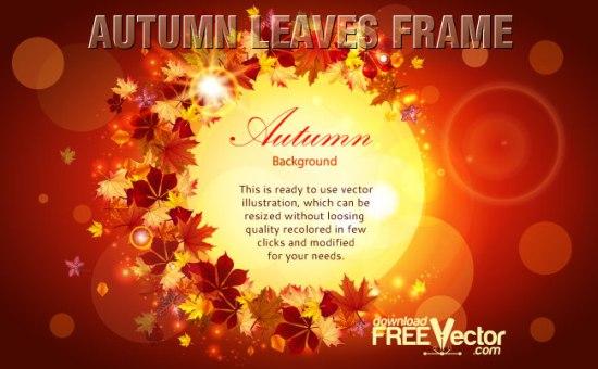Осенняя рамка с листьями в векторе. 1 сентября
