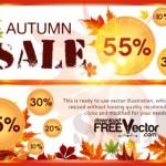 Векторные баннеры Осенняя распродажа