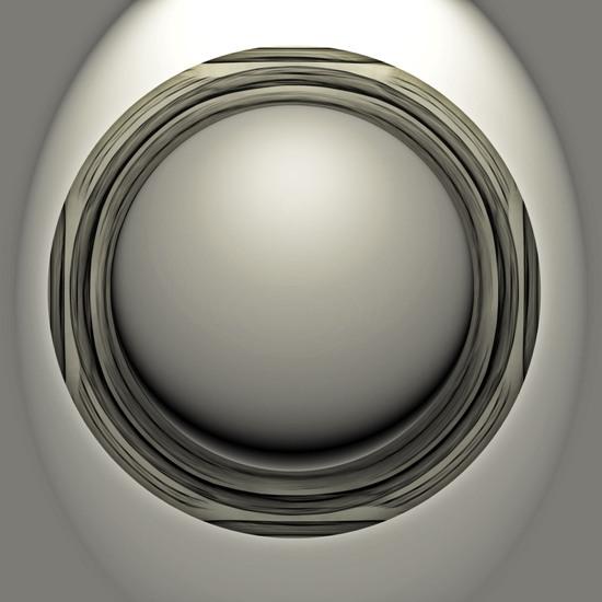 3d изображение шара в рамке.
