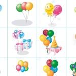 Праздничные открытки с шарами