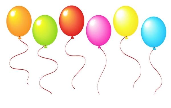 воздушные шары, шарики, в векторе, AI